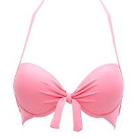 KNOTTED PUSH-UP BIKINI TOP