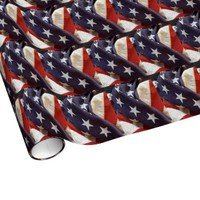 Old fabric American flag
