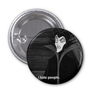 Maleficent Button