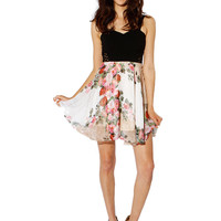Papaya Clothing Online :: FLORAL SIDE NETTED CHIFFON DRESS