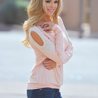 Smooth Talker Sweater- Peach