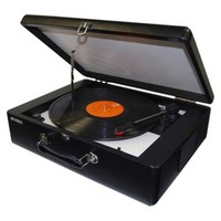 Jensen Portable 3-Speed Turntable - Black (JTA-420)
