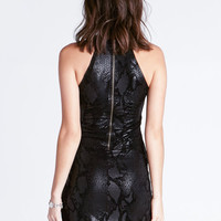 Black Python Dress