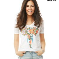 ELEPHANT V-NECK GRAPHIC T