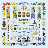 Harry Potter parody - Pillow Sampler Cross stitch PDF pattern
