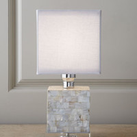 Regina-Andrew Design Mother-of-Pearl Mini Cube Lamp