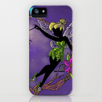 Sihouette Tinker Bell iPhone & iPod Case by Katie Simpson
