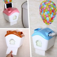 Up Wallpaper Multifuction Roll Holder Phone Holder Phone Speaker