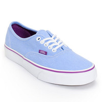 Vans Women's Authentic Blue & Sparkling Grape Washed Twill Shoe