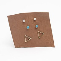 Womens Tiny 6 Pack Studs -