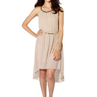 Papaya Clothing Online :: GOLD CHIFFON DRESS