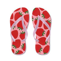 Pink Flip Flops - Strawberries - Ornaart Design