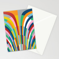 Rainbow Bricks Stationery Cards by Project M