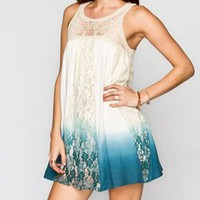 BLU PEPPER Dip Dye Tunic Dress