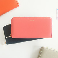 Cosette Leather Zip Up Wallet