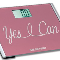 "Digital Bathroom Scale YES I CAN! Motivation Series w/ Extra Wide 440lb Step-On Platform ""2014 Limited Edition"""