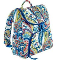 Vera Bradley Double Zip Backpack Marina Paisley