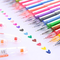 New Arrival! Set of 12 Colorful Gel Pen, candy color Marker pen, Highlighter pen for paper working, scrapbook, wedding