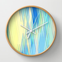 Re-Created Vertices No. 8 Wall Clock by Robert S. Lee