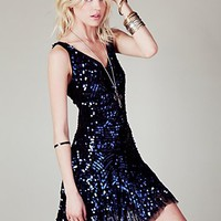 Free People Womens Shimmy Shimmy Party Dress -