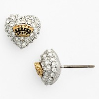 Juicy Couture Pave Heart Stud Earrings