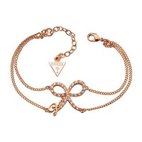 Rose Gold-Tone Mini Pave Bow Bracelet | GUESS.ca