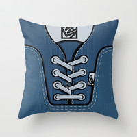 blue Vans shoes Throw Pillow case by Three Second