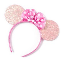 Minnie Mouse Pink Glitter Ears Headband | Claire's
