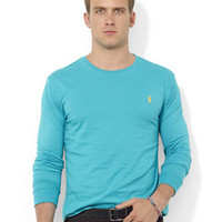 Men's | Men's | Classic-Fit Long-Sleeved Cotton Mesh Polo | Lord and Taylor