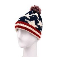 Premium Unisex Warm Knit USA American Flag Style Beanie Hat- 2 Designs Avail