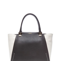 Large Trilogy Zip Tote in Black & White