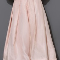 Tender Love Pleated A-line Full Skirt in Pink