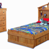 Camp Wildwood Twin Captain's Bed