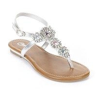 Candie's® Embellished Thong Sandals - Girls
