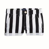 AE HI-RISE STRIPED SHORTIE