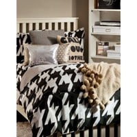 Houndstooth Fairy Duvet Set - Full/Queen