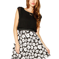 Papaya Clothing Online :: WAIST BAND DAISY CHIFFON FLORAL DRESS