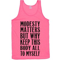 Modesty Matters But Why Keep This Body All To Myself
