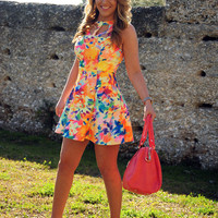 Bring Me Spring Flowers Dress: Multi