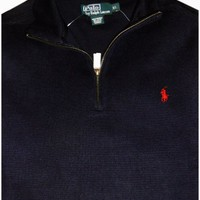 Men's Polo by Ralph Lauren Long Sleeve Pullover Sweater Navy Size Medium