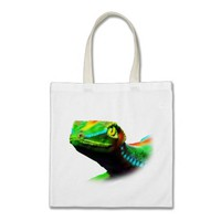 Gecko Lizard Rainbow Colors Tote_Bag