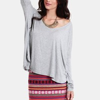 Long Layover Oversized Top | Threadsence