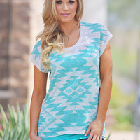Breath Of Fresh Air Tunic - Cool Mint