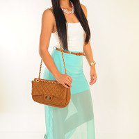 In The Ocean Breeze Skirt: Aqua