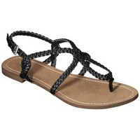 Women's Merona® Emily Braided Strap Gladiator Sandal - Black