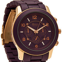 The Boyfriend Watch in Grape & Rose Gold