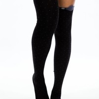 Bow N Polka Dot Thigh-High Socks