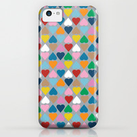 Diamond Hearts on Grey iPhone & iPod Case by Project M