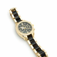 Jeweled Two-Tone Boyfriend Watch