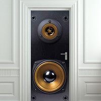 "Door Wall STICKER poster loudspeaker 3 sound music cover film 30x79"" (77x200 cm) /"